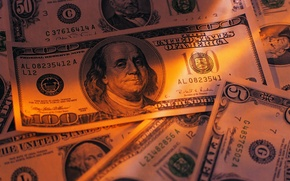 Картинка макро, деньги, доллары, бумажки, банкноты