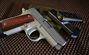 Картинка пистолет, Kimber, Micro 380, обоими