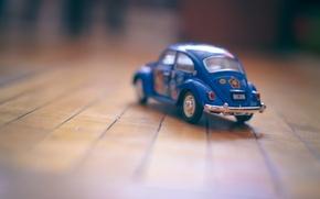 Картинка машина, авто, игрушка, автомобиль, синяя