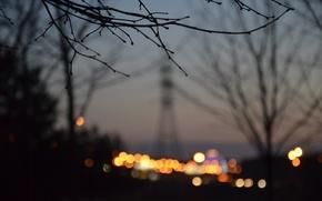 Картинка природа, город, вечер