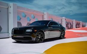 Картинка Rolls-Royce, Black, Wraith