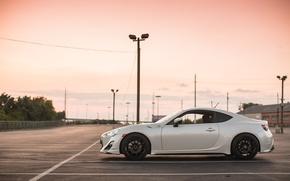 Обои небо, облака, природа, Subaru, профиль, белая, white, субару, brz