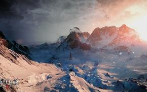 Картинка зима, снег, горы, арт, Ведьмак, CD Projekt RED, The Witcher 3: Wild Hunt