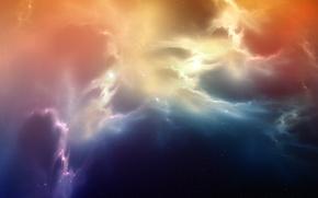 Картинка космос, туманность, звёзды