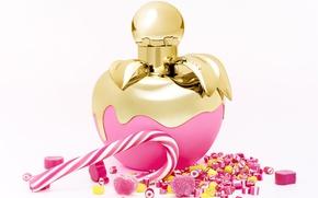 Картинка флакон, парфюм, карамельки, Nina Ricci