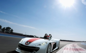 Обои гонка, скорость, Солнце