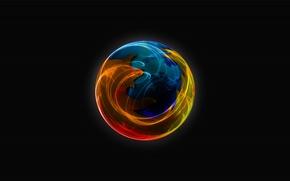 Картинка лиса, firefox, интернет, огнелис, браузер