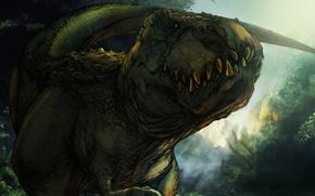 Картинка динозавр, зубы, ящерица