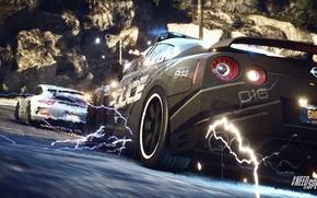 Картинка Porsche, Police, Interceptor, Pursuit, Nissan GTR, NFS Rivals Wallpaper, EMP