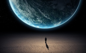 Картинка dark, planets, silhouette