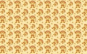 Картинка фон, текстура, обезьянка, . арт