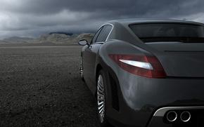 Обои Авто, пустыня, спокойствие