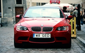Картинка красный, BMW, Польша, Варшава, БМВ, E92, Polska, RED, Warszawa