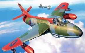 Картинка aircraft, war, airplane, aviation, dogfight, hawker hunter