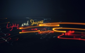 Обои Lights and Shapes, Огни, Линии, Узоры