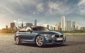 Картинка город, бмв, BMW, небоскрёбы, F30, Sedan, 3 Series, Joshua Amenyo