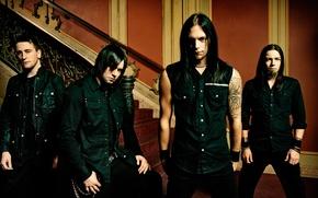 Обои рок, мэттью так, майкл томас, джейсон джеймс, мелодик металкор, пуля для моей возлюбленной, bullet for ...