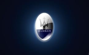 Картинка Maserati, трезубец, Logo, итальянская компания