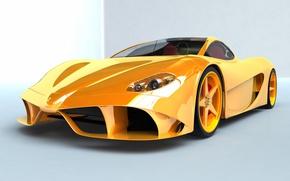 Картинка Yellow, Spider, Aurea, Ferrari 148