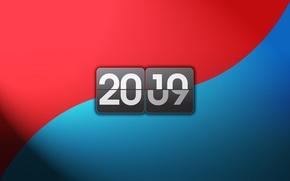 Картинка синий, красный, цифры, Новый год, 2010
