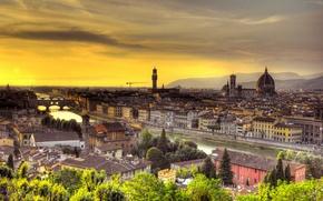 Картинка закат, Италия, Флоренция, Italy, Sunset, Florence