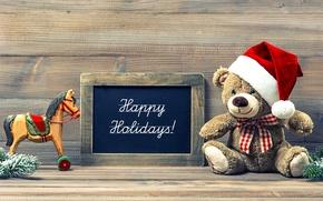 Картинка игрушки, Новый Год, медведь, Рождество, Christmas, vintage, New Year, decoration, Happy, Merry