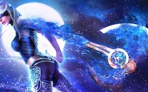 Картинка маг, посох, guild wars 2, арт девушка, Revenant, astralaria
