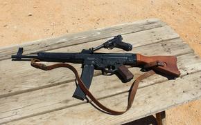 Картинка пистолет, оружие, автомат, P08, штурмовая винтовка, Люгера, Luger, Sturmgewehr 44, StG 44