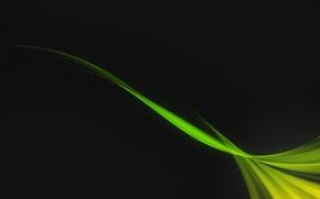 Обои зеленый, черный, волна