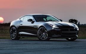 Картинка Jaguar, ягуар, Coupe, Hennessey, 2014, F-Type R, HPE600
