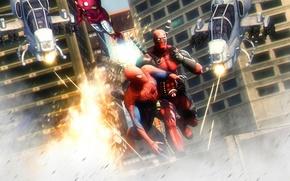 Картинка Deadpool, Marvel Comics, Spider-Man, Peter Parker