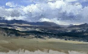Картинка природа, панорама, Карлос де Хаэс, Горный пейзаж