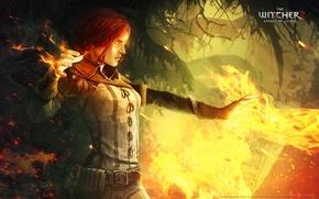Обои трисс, the witcher 2, assassins of kings, огонь