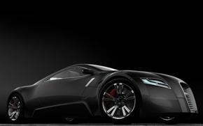 Обои Concept, Audi, черный
