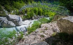 Картинка мост, река, Франция, ущелье, Прованс-Альпы-Лазурный берег, Эгин