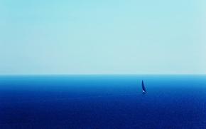 Картинка путь, океан, парус, yacht, бескрайность, blue ocean