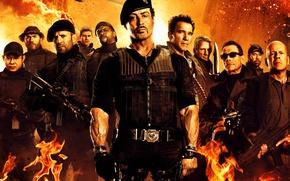 Обои Chuck Norris, Чак Норрис, Сильвестр Сталлоне, Booker, Джейсон Стэйтем, Жан-Клод Ван Дамм, Jean-Claude Van Damme, ...