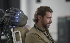 Картинка актер, профиль, борода, Hugh Jackman, Хью Джекман, Chappie, Робот по имени Чаппи
