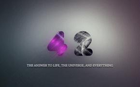 Картинка автостопом по галактике, Ответ на главный вопрос жизни вселенной и всего такого