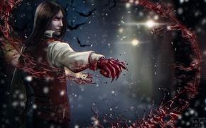 Картинка кровь, вампир, blood, летучие мыши, Art, Katrin, vampire, Kate-FoX, Vicfrid Christopher Webster, Vicfrid Webster, the …