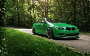 Картинка дорога, зелень, лето, BMW, Cleaner Green