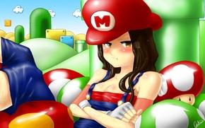 Картинка girl, sexy, game, mario bross