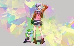 Картинка лягушка, аниме, арт, девочка, wizard barristers