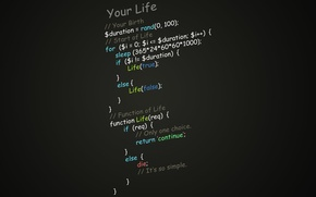 Картинка программирование, функция жизни, скрипт