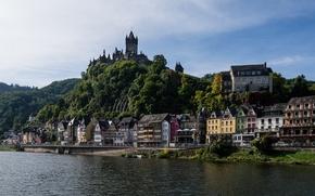 Картинка Germany, Германия, замок, река Мозель, Moselle River, Cochem, здания, набережная, Кохем