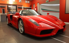 Картинка Ferrari, red, supercar, Enzo, salon