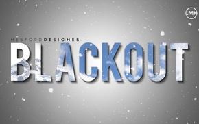 Картинка Photoshop, Mountain, Snow, Wallpaper, Blackout