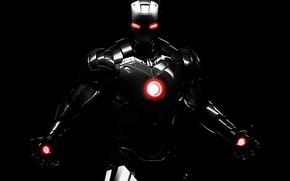 Картинка dark, robot, background, marvel, comics, iron man, dark iron man