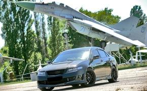 Обои Дорога, Самолет, Машина, Honda Accord