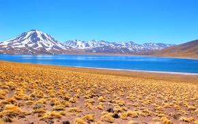 Картинка горы, природа, ландшафт, лагуна, Боливия, Salar d'Atacama